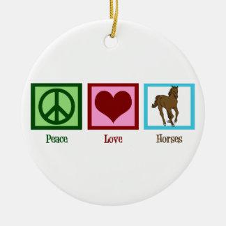 Chevaux d amour de paix décorations de noël