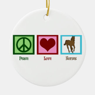 Chevaux d'amour de paix décorations de noël