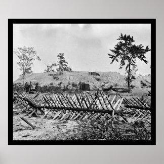 Chevaux-de-frise in Atlanta, GA 1864 Poster