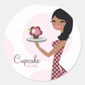 cheveux onduleux ethniques de 311-Cupcake Cutie Adhésif Rond