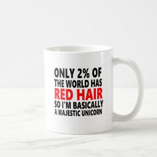 Cheveux rouges drôles mug blanc