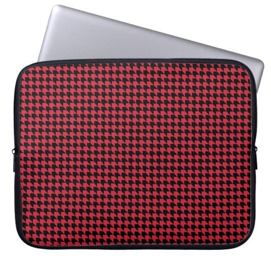Chevon Checks Red and Black Laptop Sleeve