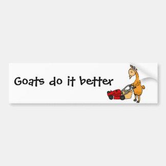 Chèvre de Billy drôle poussant la bande dessinée d Autocollants Pour Voiture
