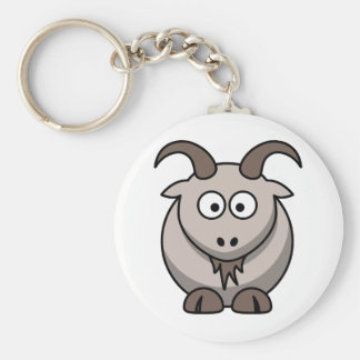 Chèvre pâle porte-clés