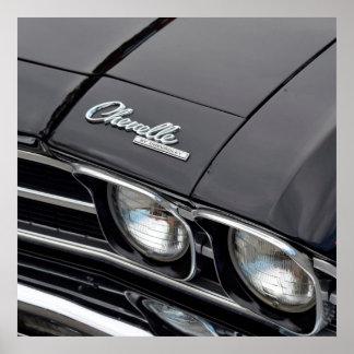 Chevrlot classique Chevelle sur le noir Poster