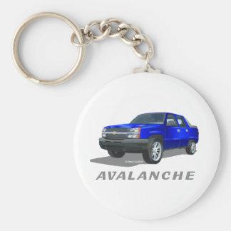Chevrolet Avalanche Blue Keychain
