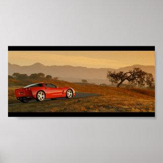 Chevrolet Corvette C6 Desert Poster