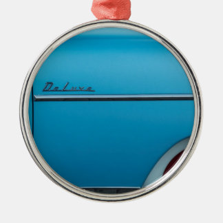 Chevrolet Deluxe Blue Fender Silver-Colored Round Ornament