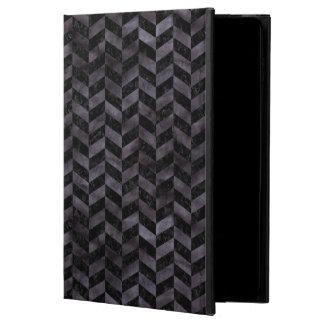 CHEVRON1 BLACK MARBLE & BLACK WATERCOLOR POWIS iPad AIR 2 CASE