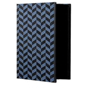 CHEVRON1 BLACK MARBLE & BLUE DENIM POWIS iPad AIR 2 CASE