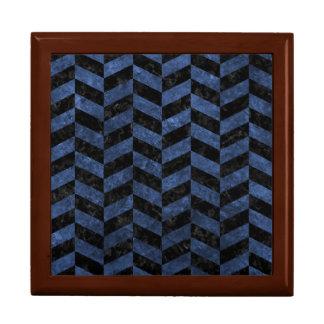 CHEVRON1 BLACK MARBLE & BLUE STONE GIFT BOX