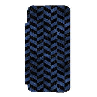 CHEVRON1 BLACK MARBLE & BLUE STONE INCIPIO WATSON™ iPhone 5 WALLET CASE
