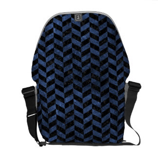 CHEVRON1 BLACK MARBLE & BLUE STONE MESSENGER BAG