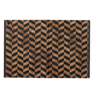 CHEVRON1 BLACK MARBLE & BROWN STONE CASE FOR iPad AIR