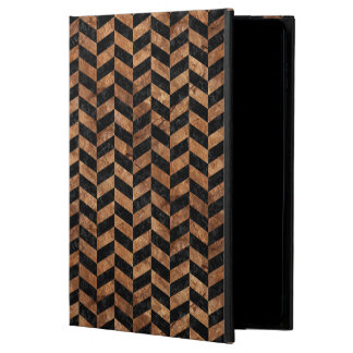 CHEVRON1 BLACK MARBLE & BROWN STONE POWIS iPad AIR 2 CASE