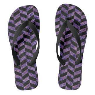 CHEVRON1 BLACK MARBLE & PURPLE MARBLE FLIP FLOPS