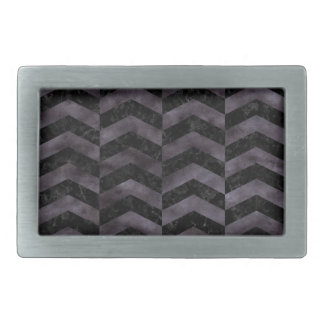 CHEVRON2 BLACK MARBLE & BLACK WATERCOLOR BELT BUCKLES