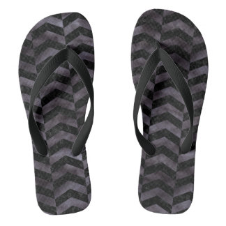 CHEVRON2 BLACK MARBLE & BLACK WATERCOLOR FLIP FLOPS