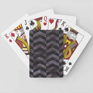 CHEVRON2 BLACK MARBLE & BLACK WATERCOLOR PLAYING CARDS