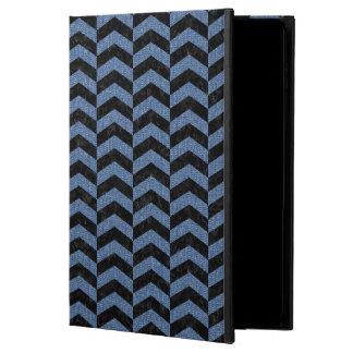 CHEVRON2 BLACK MARBLE & BLUE DENIM POWIS iPad AIR 2 CASE