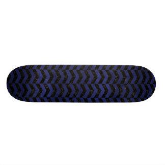 CHEVRON2 BLACK MARBLE & BLUE LEATHER SKATE DECKS