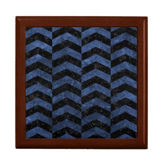 CHEVRON2 BLACK MARBLE & BLUE STONE GIFT BOX