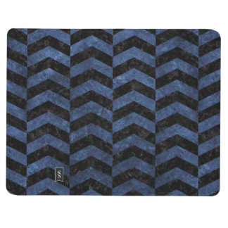 CHEVRON2 BLACK MARBLE & BLUE STONE JOURNAL