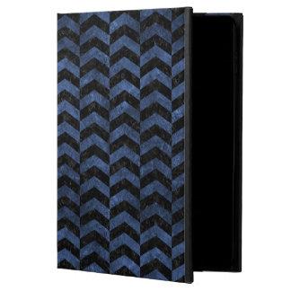 CHEVRON2 BLACK MARBLE & BLUE STONE POWIS iPad AIR 2 CASE