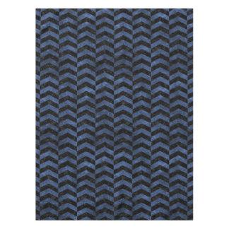 CHEVRON2 BLACK MARBLE & BLUE STONE TABLECLOTH