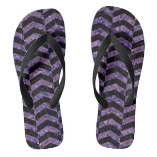 CHEVRON2 BLACK MARBLE & PURPLE MARBLE FLIP FLOPS