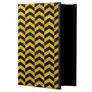 CHEVRON2 BLACK MARBLE & YELLOW MARBLE POWIS iPad AIR 2 CASE