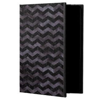 CHEVRON3 BLACK MARBLE & BLACK WATERCOLOR POWIS iPad AIR 2 CASE