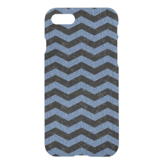 CHEVRON3 BLACK MARBLE & BLUE DENIM iPhone 8/7 CASE