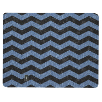 CHEVRON3 BLACK MARBLE & BLUE DENIM JOURNAL