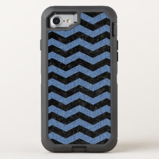 CHEVRON3 BLACK MARBLE & BLUE DENIM OtterBox DEFENDER iPhone 8/7 CASE