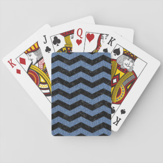 CHEVRON3 BLACK MARBLE & BLUE DENIM PLAYING CARDS