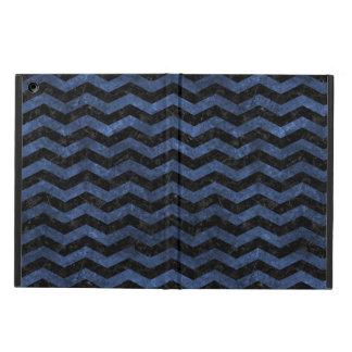 CHEVRON3 BLACK MARBLE & BLUE STONE CASE FOR iPad AIR