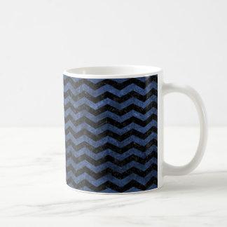 CHEVRON3 BLACK MARBLE & BLUE STONE COFFEE MUG