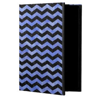 CHEVRON3 BLACK MARBLE & BLUE WATERCOLOR POWIS iPad AIR 2 CASE