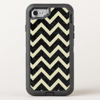 CHEVRON9 BLACK MARBLE & BEIGE LINEN OtterBox DEFENDER iPhone 7 CASE