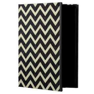 CHEVRON9 BLACK MARBLE & BEIGE LINEN POWIS iPad AIR 2 CASE