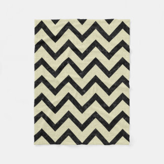 CHEVRON9 BLACK MARBLE & BEIGE LINEN (R) FLEECE BLANKET