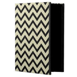 CHEVRON9 BLACK MARBLE & BEIGE LINEN (R) POWIS iPad AIR 2 CASE