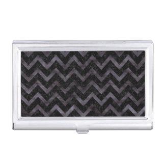CHEVRON9 BLACK MARBLE & BLACK WATERCOLOR BUSINESS CARD HOLDER
