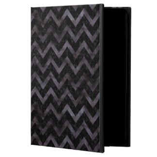 CHEVRON9 BLACK MARBLE & BLACK WATERCOLOR POWIS iPad AIR 2 CASE