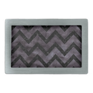 CHEVRON9 BLACK MARBLE & BLACK WATERCOLOR (R) BELT BUCKLES