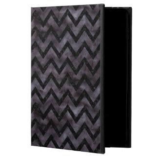 CHEVRON9 BLACK MARBLE & BLACK WATERCOLOR (R) POWIS iPad AIR 2 CASE