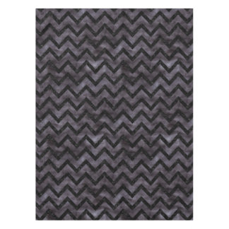 CHEVRON9 BLACK MARBLE & BLACK WATERCOLOR (R) TABLECLOTH