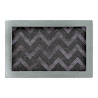 CHEVRON9 BLACK MARBLE & BLACK WATERCOLOR RECTANGULAR BELT BUCKLES