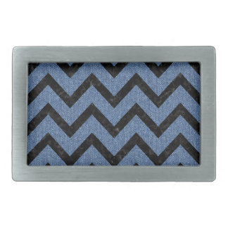 CHEVRON9 BLACK MARBLE & BLUE DENIM (R) BELT BUCKLE
